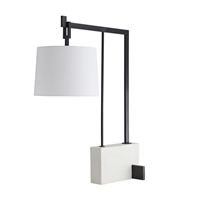 white black faux marble desk lamp