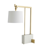 white gold contemporary lamp