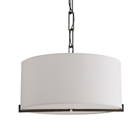 aged bronze pendant light white shade