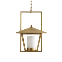 gold pendant light glass brass