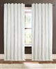 curtains drapery x-pattern embroidered aqua gray tan ivory linen/cotton blend