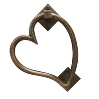 metal door knocker heart