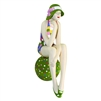 Decorative Bather Figurine - Green and Multi Suit on Dotted Ball