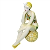 Decorative Bather Figurine Lemon Accented Suit on Dotted Ball