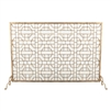 fireplace screen geometric gold contemporary mesh stand feet