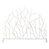 DLIP Dr. Livingstone I Presume Fireplace Screen branches twigs white stand iron