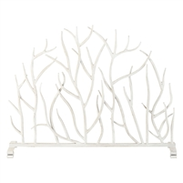 Fireplace Screen branches twigs white stand iron