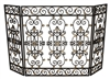 Burnished Gold Iron Gate Design 3-Panel Fire Screen