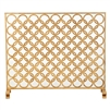 fire screen double circle gold single panel mesh