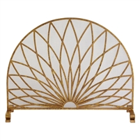 fire screen arched Italian gold starburst mesh