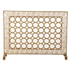 fire screen green key gold circles mesh