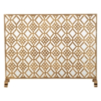 fire screen diamond gold mesh