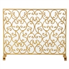 fire screen scroll leaf gold mesh