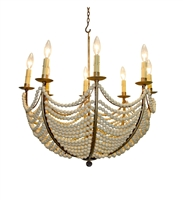 Eight Light Umbrella Design Bead Chandelier by Dr Livingstone I Presume