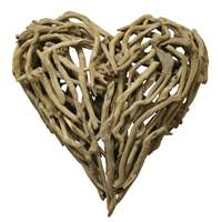 Small Heart Driftwood - Sculptural Wall Art & Décor