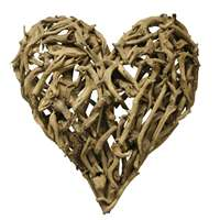 large driftwood heart wall mount sculpture