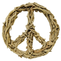 Driftwood Peace Sign natural small