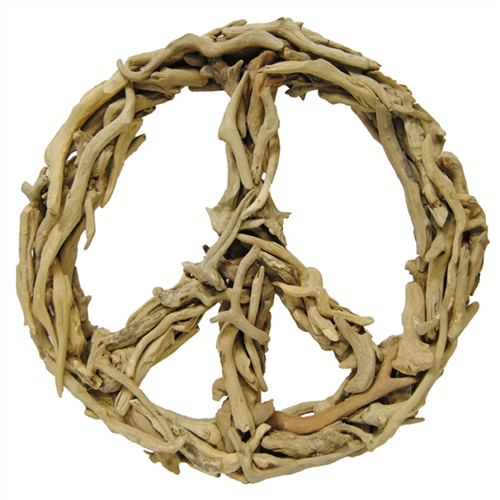 Driftwood Peace Sign natural large