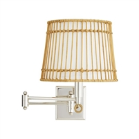 wicker birdcage wall sconce adjustable silver