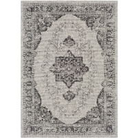 Surya Eagean Indoor Designer Outdoor Rug - Taupe + Black Area Rug