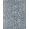 Surya Eagean Indoor Designer Outdoor Rug - Denim + Gray Area Rug