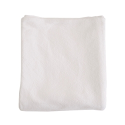blanket white cotton simple Evangeline Linens