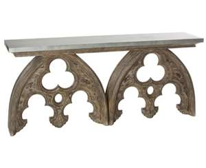Arched Cathedral Table with Tin Top by Aidan Gray