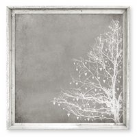 wall art taupe tree hearts framed