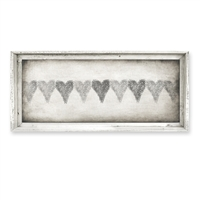 rectangle framed canvas art row hearts