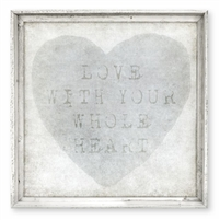 love with your whole heart framed wall art