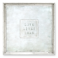 Designer Love Lives Here Framed Art - USA-Made Wall Art | BSEID