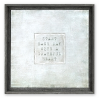 Start Each Day Framed Art (size + color + frame options)