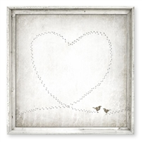 lovebirds framed wall art