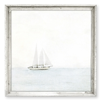 Sweet Gumball Sailboat Framed Wall Art - Unique Wall Hung Décor