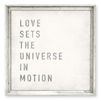 love sets the universe framed wall art