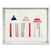 Designer Framed Canvas Art, USA-Made: 3 Cabanas | BSEID