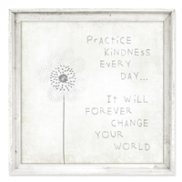 Designer Framed Canvas Art, USA-Made: Practice Kindness | BSEID