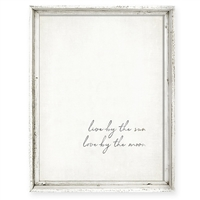 wall art recycled wood frame love by the sun love by the moon