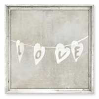 love string framed wall art