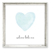 wood framed wall art print gallery wrap decor welcome little one