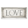 rectangle framed canvas art LOVE