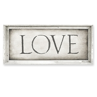 Designer Framed Canvas Art - Love - USA-Made Wall Art | BSEID