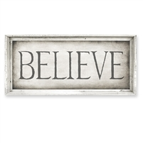 Believe Framed Canvas Art - Canvas + Framed Wall Art