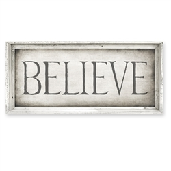 Designer Believe Framed Canvas Art, USA-Made: Canvas + Framed Wall Art | BSEID