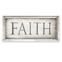 rectangle framed canvas art FAITH