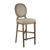 Medallion Bar Stool - Natural Linen