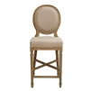 Medallion Counter Stool - Natural Linen