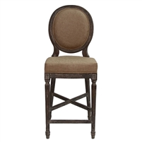 Medallion Counter Stool - Copper Linen