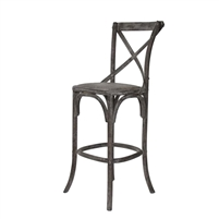 Parisienne Cafe Bar Stool - Charcoal