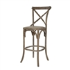 Parisienne Cafe Bar Stool - Limed Grey